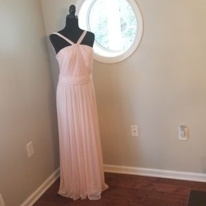 Petal pink bridesmaid dress